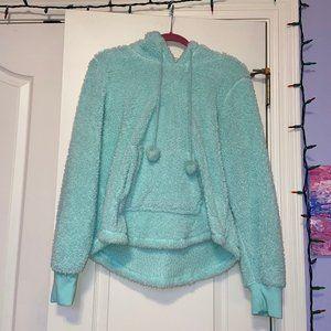 Xhilaration Fleece Sparkle Mint Green Hoodie